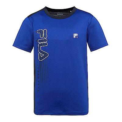 FILA 男抗UV吸濕排汗T恤-藍紫 1TES-1302-VT