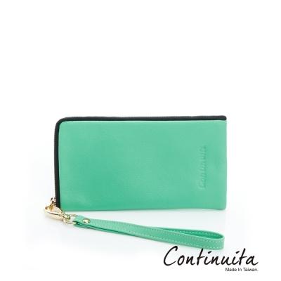 Continuita-康緹尼-MIT-頭層牛皮多功能手機套-綠