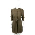 Michael Kors 墨綠色抽繩綁帶襯衫式洋裝