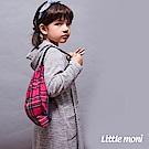 Little moni 巴黎櫥窗連帽針織長外套 - 灰色