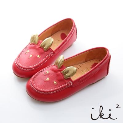 iki2童鞋-咕妮兔冒險系列眨眼百搭懶人鞋-熱情紅