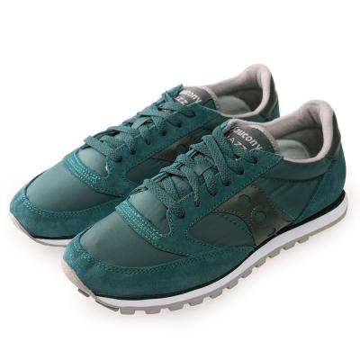 (男) 美國 SAUCONY 經典時尚休閒輕量慢跑球鞋-藍綠