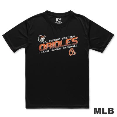 MLB-巴爾的摩金鶯隊造形文字快排短袖T恤-黑(男)