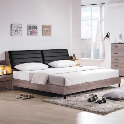 Boden-布洛爾6尺工業風雙人加大床組(床頭箱+床架)(不含床墊)