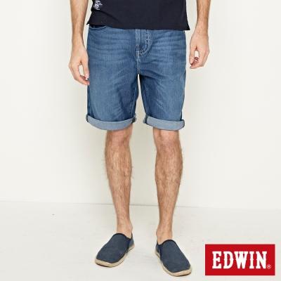 EDWIN 迦績褲JERSEY包織袋短褲-男-石洗藍