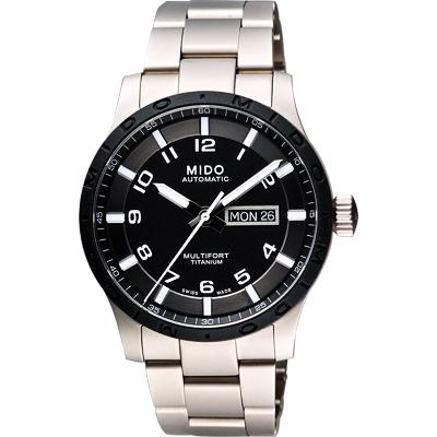 MIDO Multifort 先鋒系列【鈦】時尚機械腕錶-黑x銀/42mm