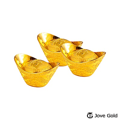 Jove Gold 貳台錢黃金元寶x3-福(共6台錢)
