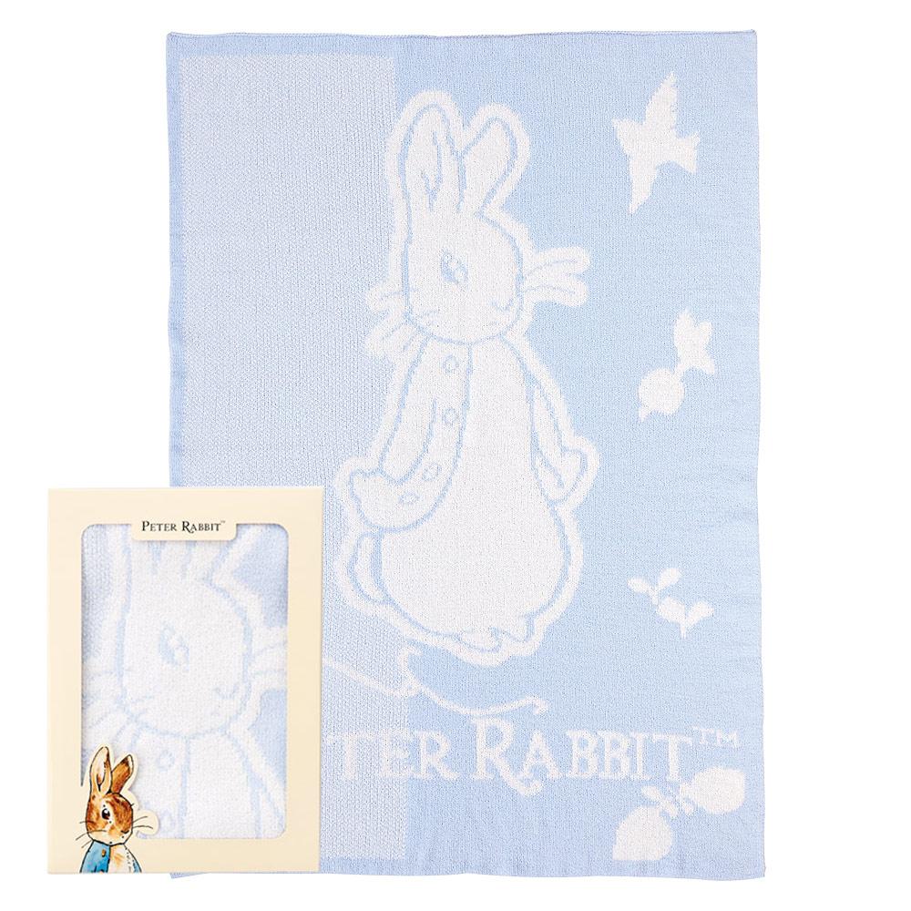 奇哥 比得兔雙層柔舒毯禮盒-粉藍