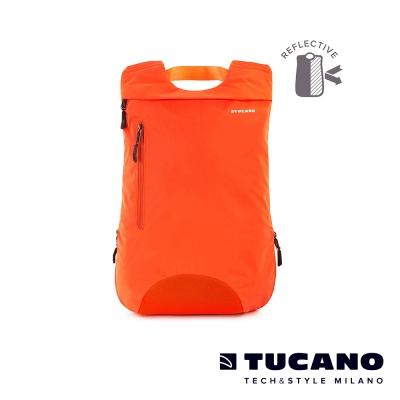 TUCANO LUNA 運動型防潑水反光後背包-亮橘