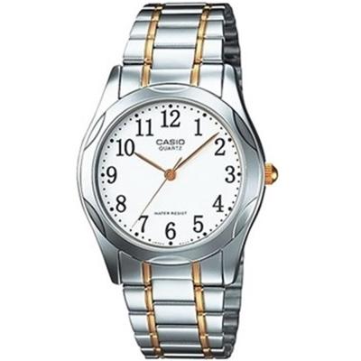 CASIO 時尚輝煌指針紳士錶(MTP-1275SG-7B)-白x金邊/36mm