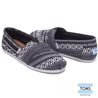 TOMS 圖紋編織懶人鞋-男款