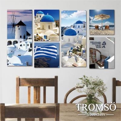 TROMSO時尚無框畫-蔚藍希臘 (6件1幅)