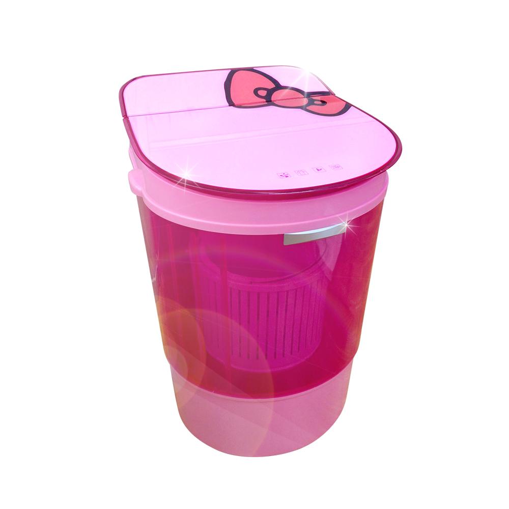 EDISON 愛迪生 迷你二合一單槽4.0公斤洗脫機/粉紅