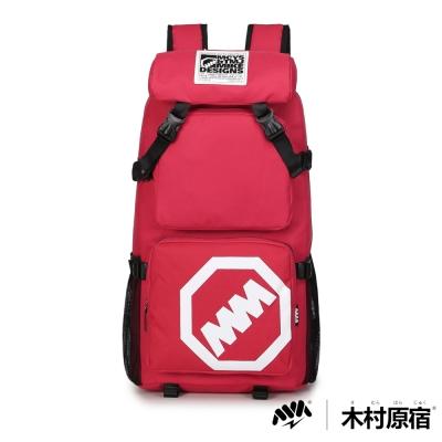 木村原宿MM-CAP袋-日式潮男排扣筆電登山包-靚