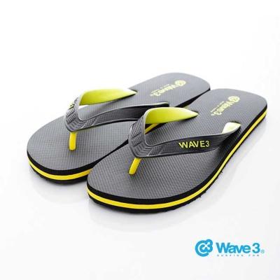 WAVE3男款 獨家設計ESP-五代人字夾腳拖鞋-黑黃