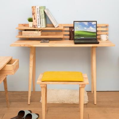 諾雅度 原生實木壁架書桌椅組