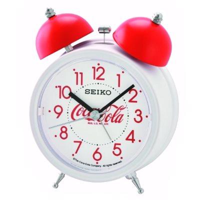 SEIKO 日本精工 響鈴聲 靜音 貪睡鬧鐘(QHK905W)-白/11.1X8.4cm