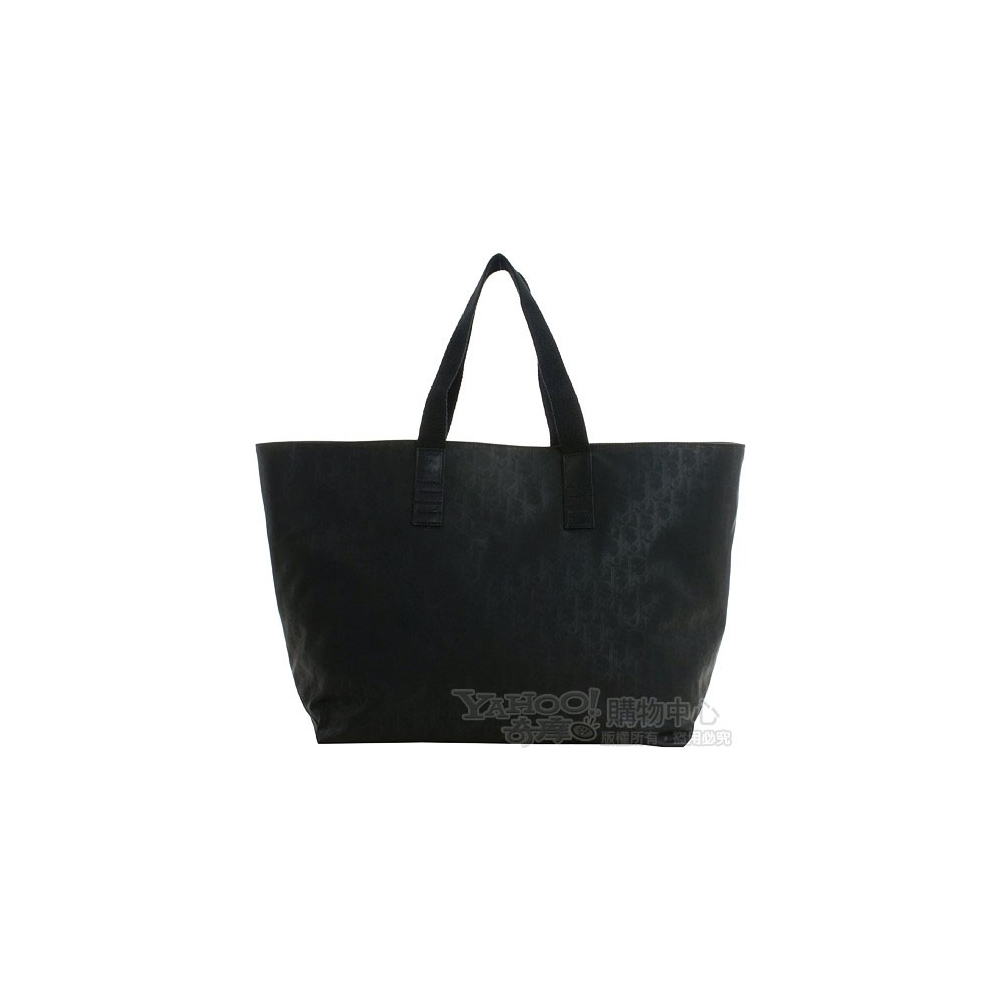 Dior Homme經典字樣帆布肩背購物包(黑色)
