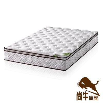 尚牛 正三線乳膠舒柔布硬式彈簧床墊-雙人加大6尺