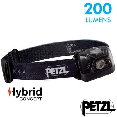 【法國 Petzl】新款 TIKKA 超輕量省電頭燈(200流明)_黑