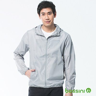 bossini男裝-多功能輕便風衣淺灰