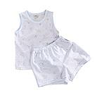 薄款純棉印花居家背心套裝 藍 k50657 魔法Baby