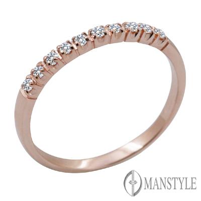 MANSTYLE 求婚美鑽 銀河玫瑰金鑽石戒指