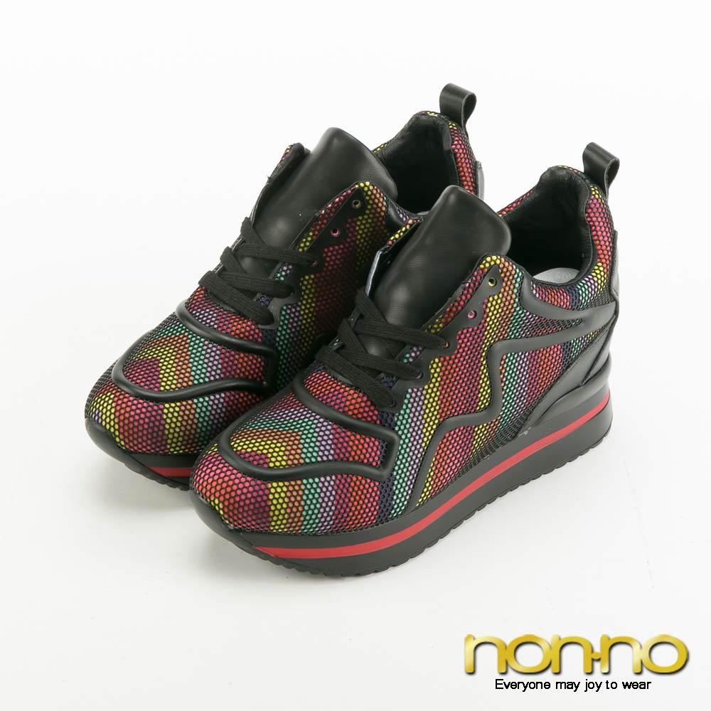 nonno 前衛流線型線條運動風休閒鞋-紅