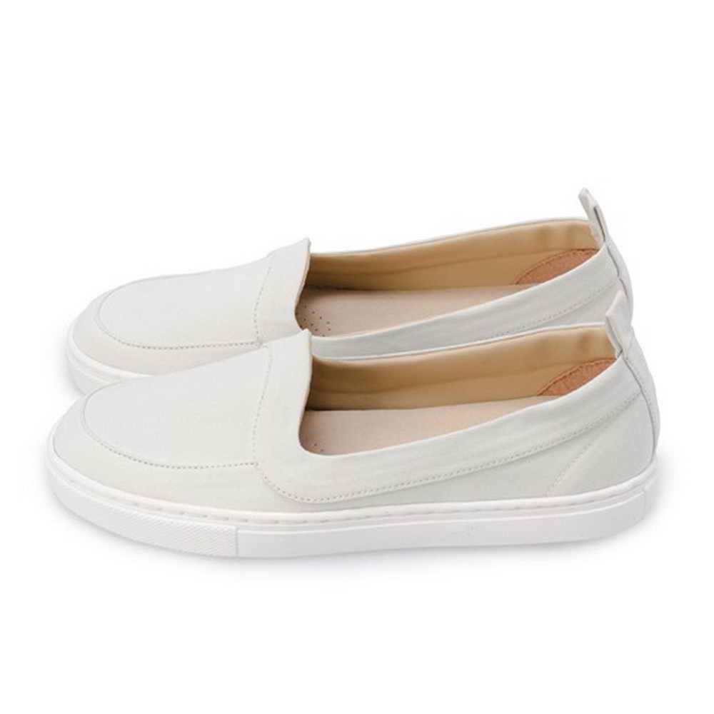 FUFA  MIT 舒適休閒懶人鞋 (FO02) 白色
