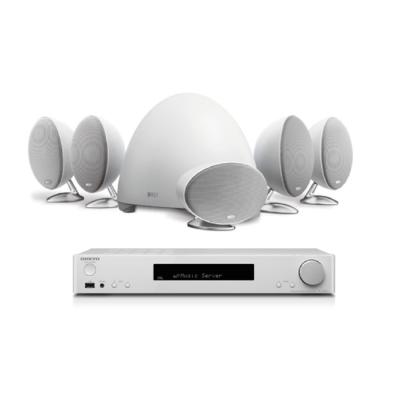 KEF E305 5.1衛星喇叭家庭劇院白色組 + TX-L50影音環繞擴大機