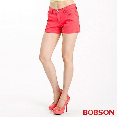 BOBSON 女款套染短褲