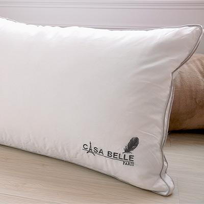 法國Casa Belle 頂級北歐 98/<b>2</b> 羽絨天絲枕 二入