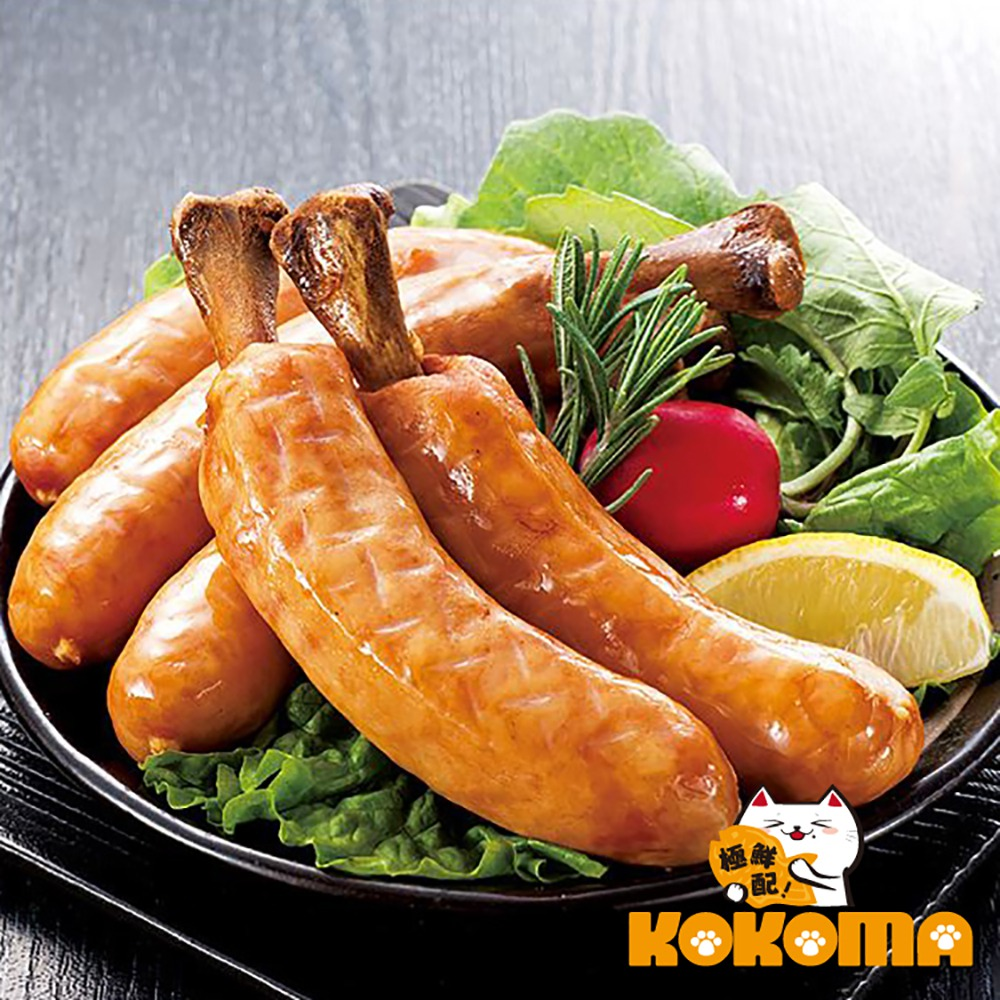 極鮮配 米其林5入帶骨德式香腸 (375g±10%/1包5入)-4包