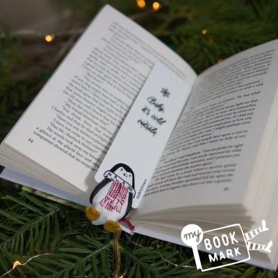 禮物myBookmark手工書籤-愛閱讀的企鵝