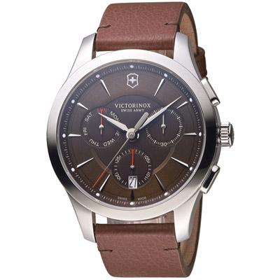 維氏 VICTORINOX ALLIANCE 腕錶系列 -咖啡/44mm