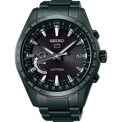 SEIKO 精工 ASTRON GPS 鈦衛星太陽能電波腕錶(SSE089J1)-45mm