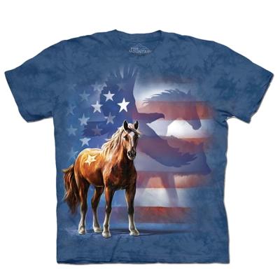摩達客 美國進口The Mountain 動物影旗  純棉環保短袖T恤