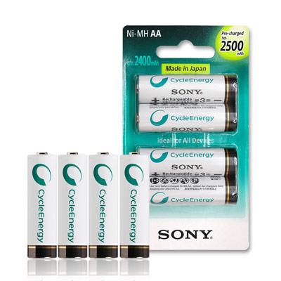 SONY 低自放3號新型2500mAh充電電池(4顆入)