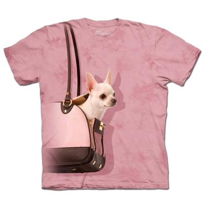 摩達客 美國進口The Mountain手提包吉娃娃純棉短袖T恤