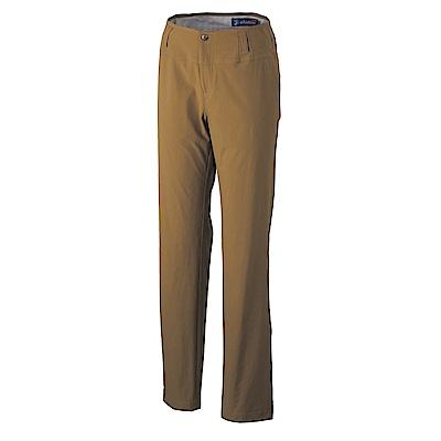 【Wildland 荒野】女四向彈性抗UV合身長褲-卡其