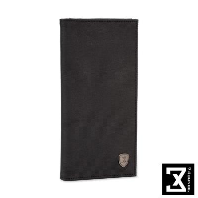 74盎司 防潑水對折長夾[N-485]黑