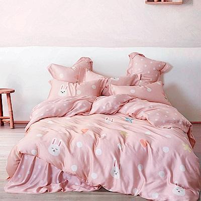Ania Casa 天絲 TENCEL-特大鋪棉兩用被套床包四件組- 可愛精靈