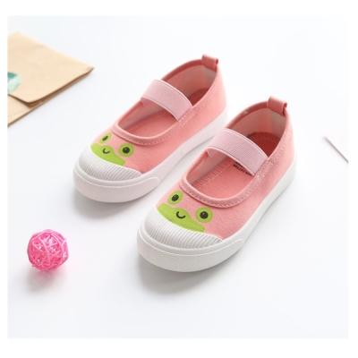 萌萌款卡通四季百搭兒童帆布鞋-粉