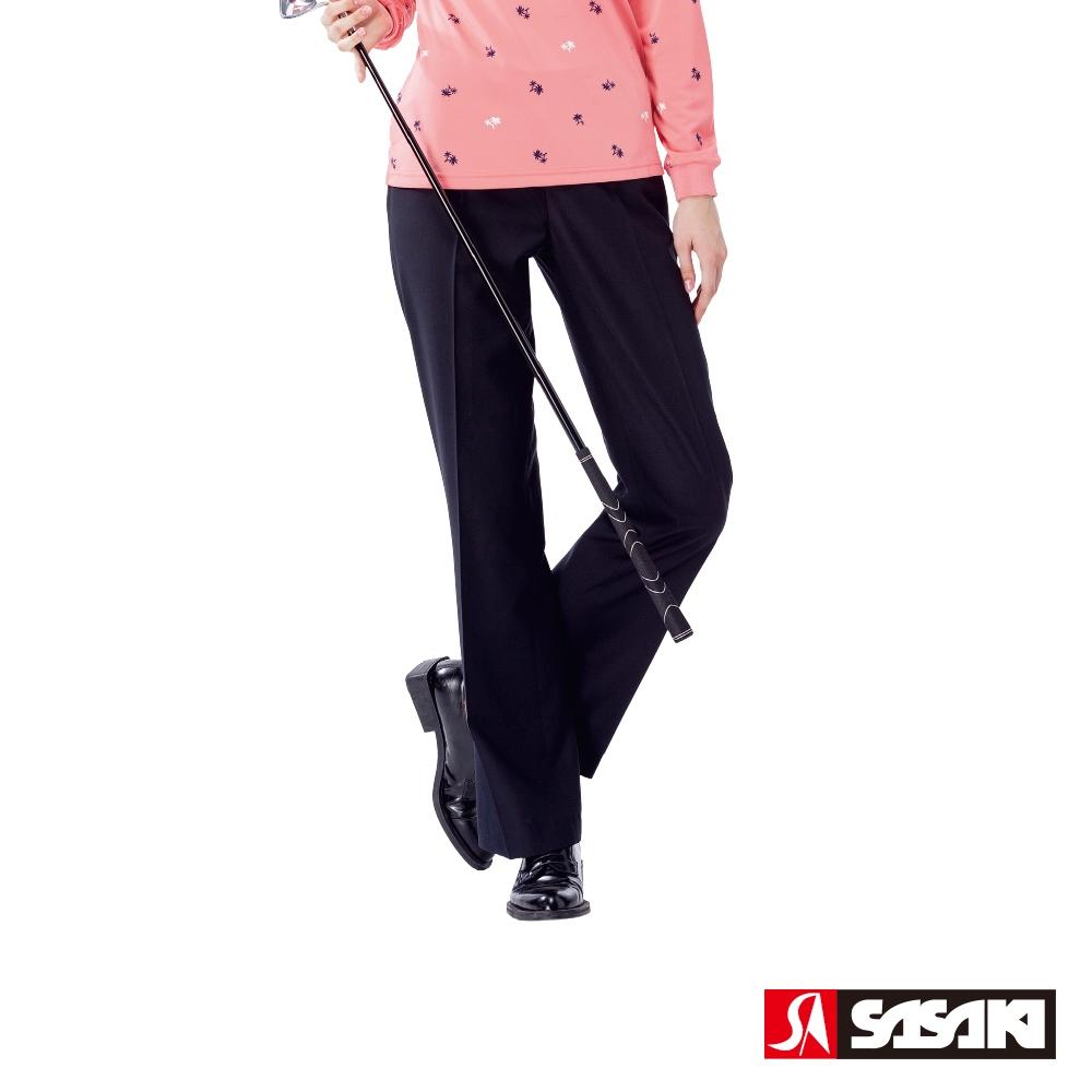 SASAKI 高爾夫球休閒長褲-女-丈青-防疫居家運動首選