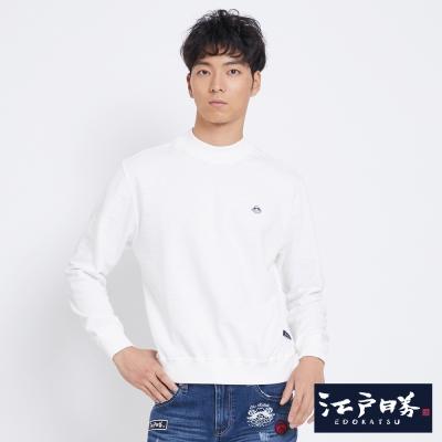 EDWIN EDOKATSU江戶勝小立領長袖T恤-中性-米白