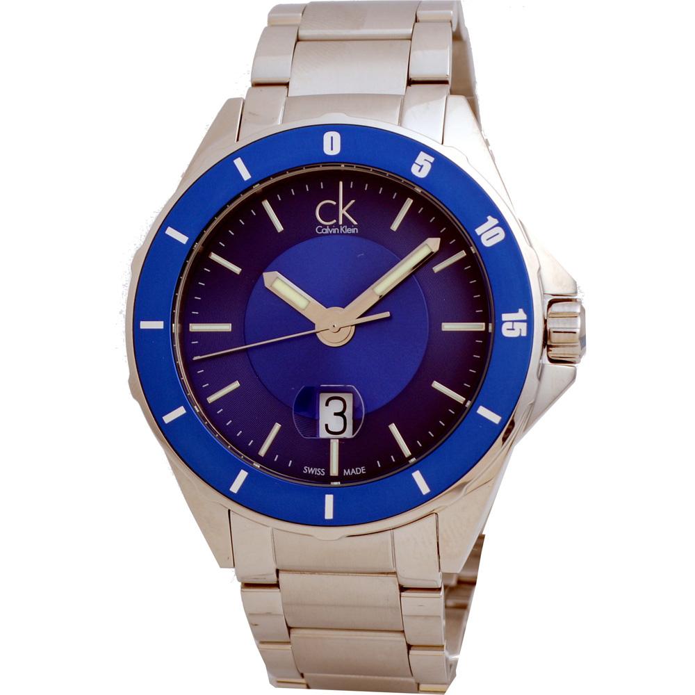 Calvin Klein ck Play運動腕錶-海藍/43mm