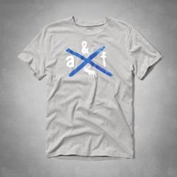 A&F KIDS水彩造型麋鹿短T恤(灰)-童版
