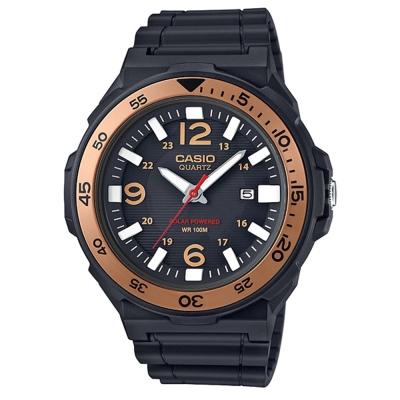 CASIO潛水運動風格環保太陽能盤休閒錶(MRW-S310H-9B)金框/47.9mm