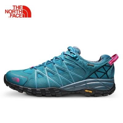 The North Face北面女款藍色抓地耐磨徒步鞋