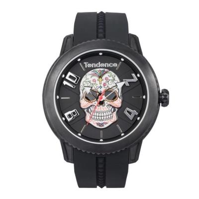 Tendence 天勢錶-圓弧系列骷髏頭款-花紋骷髏/45mm